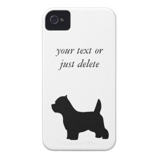 West Highland White Terrier dog, westie silhouette Case-Mate iPhone 4 Case