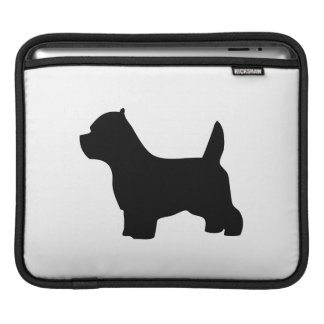 West Highland White Terrier dog, westie silhouette iPad Sleeve