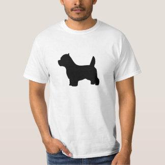 West Highland White Terrier dog, westie silhouette T-Shirt