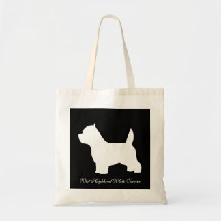 West Highland White Terrier dog, westie silhouette Tote Bag