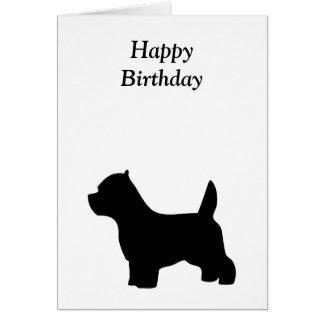 West Highland White Terrier  happy birthday card