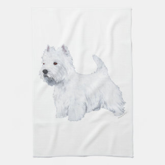 West Highland White Terrier Kitchen Towel