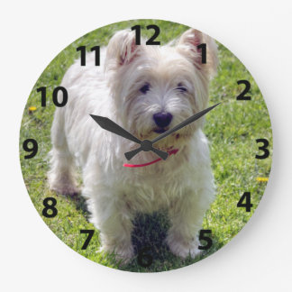 West Highland White Terrier Large Clock