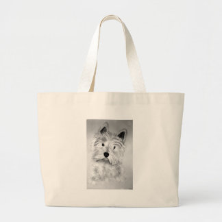 West Highland White Terrier Large Tote Bag