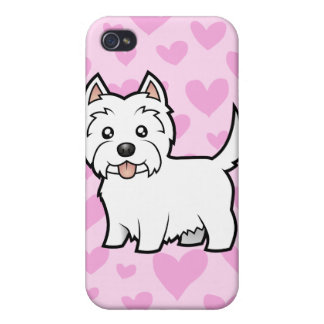 West Highland White Terrier Love (add a pern) iPhone 4/4S Cover