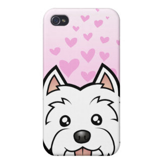 West Highland White Terrier Love Covers For iPhone 4