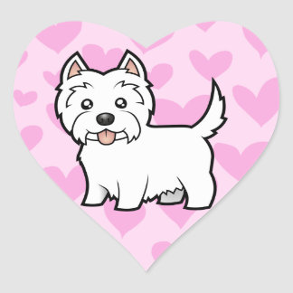 West Highland White Terrier Love Heart Sticker