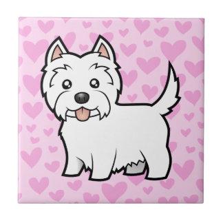 West Highland White Terrier Love Tile