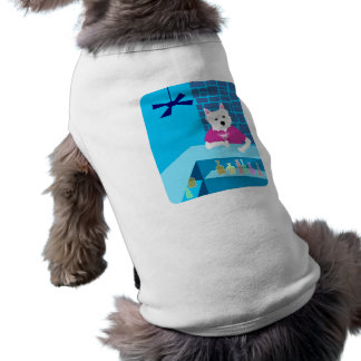 West Highland White Terrier Martini Bar Dog T Shirt