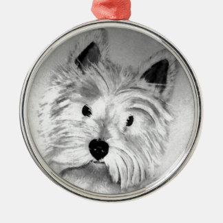 West Highland White Terrier Metal Ornament