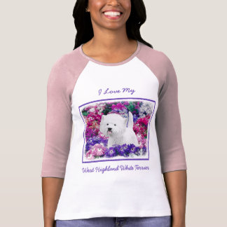 West Highland White Terrier Painting Dog Art T-Shirt