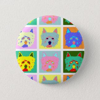 West Highland White Terrier Pop Art 2 Inch Round Button
