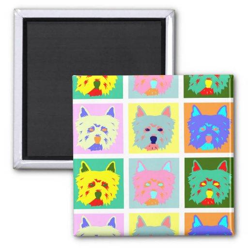 West Highland White Terrier Pop Art Magnets