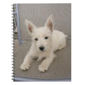West Highland White Terrier Puppy Notebook