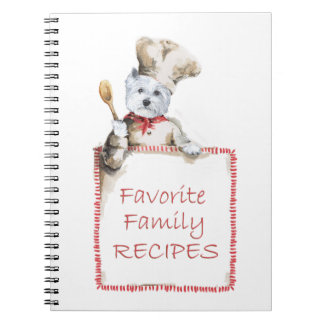 West Highland White Terrier Recipe NOTES Spiral Notebook