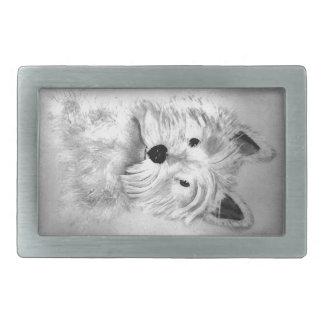 West Highland White Terrier Rectangular Belt Buckles