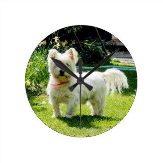 West Highland White Terrier Round Clock