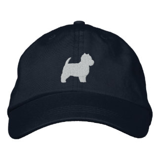 West Highland White Terrier Silhouette Baseball Cap