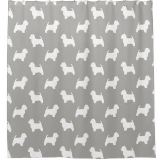 West Highland White Terrier Silhouettes Pattern