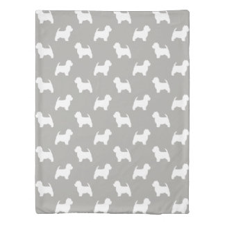 West Highland White Terrier Silhouettes Pattern Duvet Cover