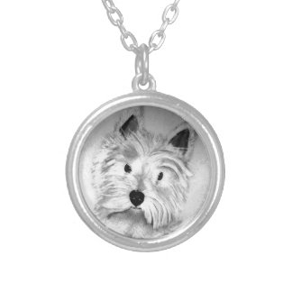 West Highland White Terrier Silver Plated Necklace