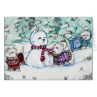 West Highland White Terrier Snowman Card
