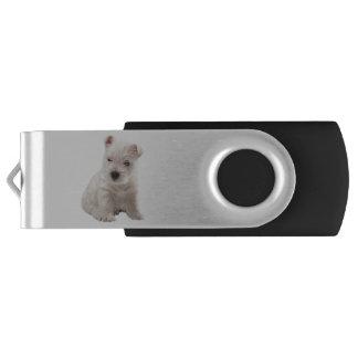 west highland white terrier swivel USB 2.0 flash drive