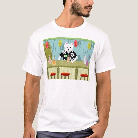 West Highland White Terrier Tiki Bar T-Shirt