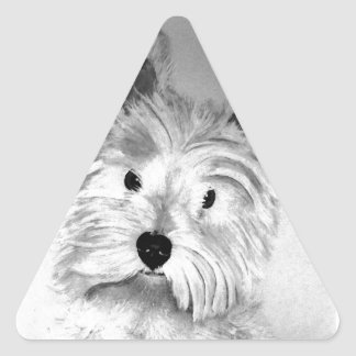 West Highland White Terrier Triangle Sticker