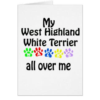 West Highland White Terrier Walks Design Card