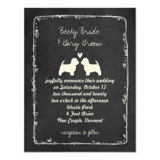 West Highland White Terrier Wedding Card