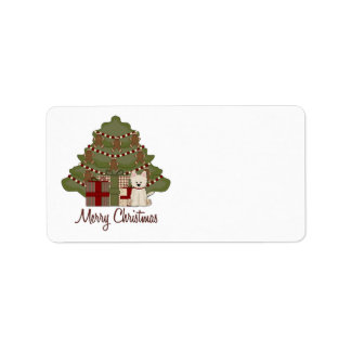 West Highland White Terrier West Christmas Label