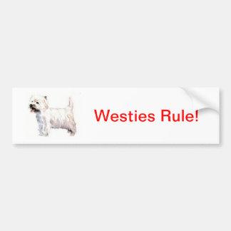 West Highland White Terrier Westie Bumper Sticker