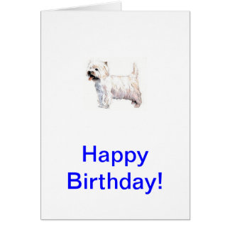 West Highland White Terrier Westie Card