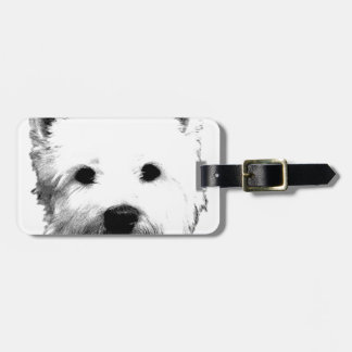 West Highland White Terrier Westie Dog Image Luggage Tag