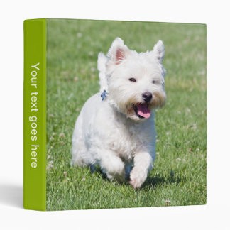 West Highland White Terrier westie dog photo album 3 Ring Binder