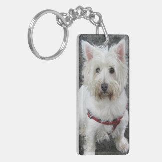 West Highland White Terrier, westie dog photo Double-Sided Rectangular Acrylic Keychain