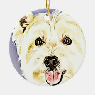 West Highland White Terrier,Westie,Dog,Puppy Ceramic Ornament