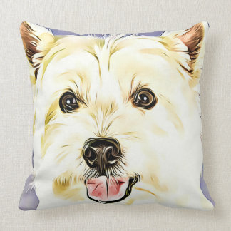 West Highland White Terrier,Westie,Dog,Puppy Throw Pillow