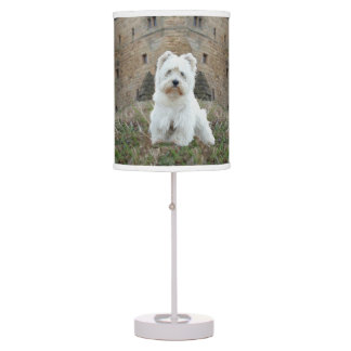 West Highland White Terriers Castle Table Lamp
