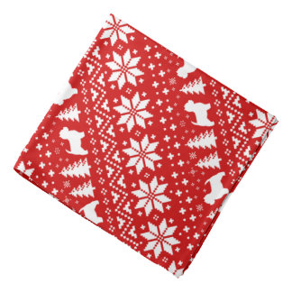 West Highland White Terriers Christmas Pattern Red Do-rag