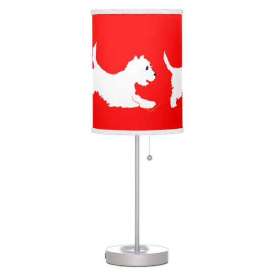 West Highland White Terriers Desk Lamps