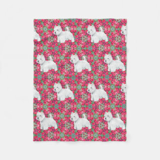 West Highland White Terriers Fleece Blanket