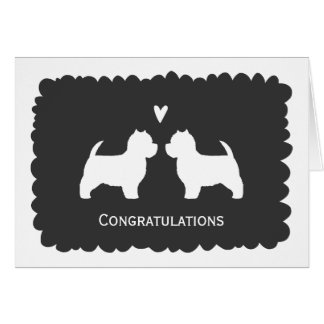 West Highland White Terriers Wedding Congrats Card