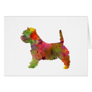 west highland white to terrier in watercolor 2 card