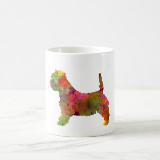 west highland white to terrier in watercolor 2 coffee mug
