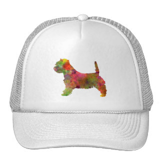 west highland white to terrier in watercolor 2 trucker hat
