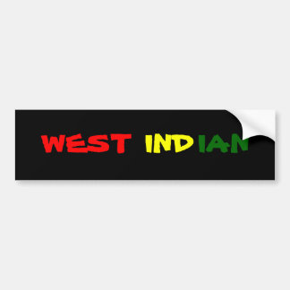 West Indian Bumper Sticker