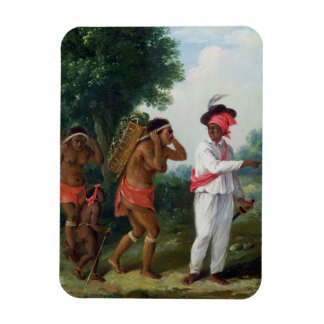 West Indian Man of Colour, Directing two Carib Wom Rectangular Photo Magnet