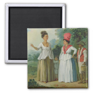 West Indian Women of Colour, with a Child and Blac Fridge Magnet